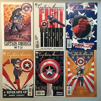Nice Run of 6 x Marvel Knights CAPTAIN AMERICA (Marvel, 2002) #1 to #6