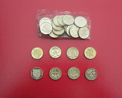 Selection Of Circulated £1 (One Pound) Coins- Great British Coin Hunt