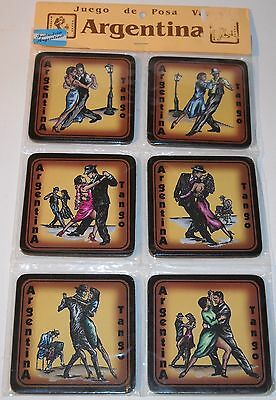 Argentina Tango Set of 6 Drink Coasters New Unopened