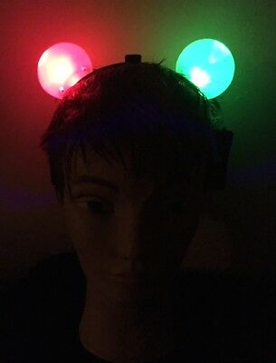 Flashing Light Up Color Changing Mouse Ears