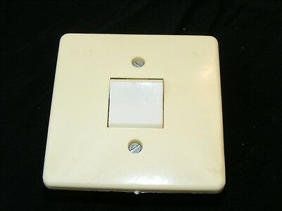 Old Switch Flush Change-Over Switch Flush-Mounted Light Switch, Art Deco Loft
