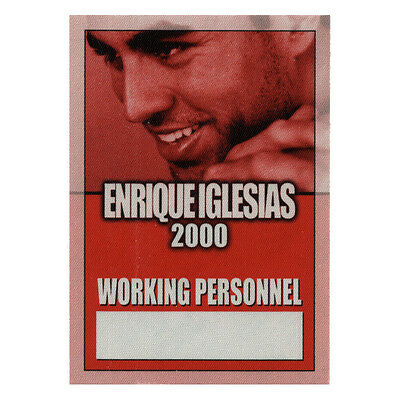 Enrique Iglesias Red Working 2000 Backstage Pass