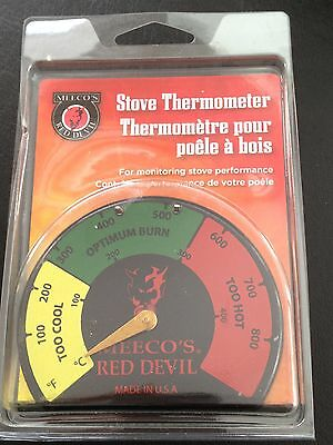 Meeco's Red Devil Magnetic Stove Thermometer Temperature Gauge Made in the USA