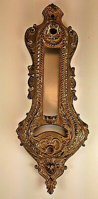 French Chateau Art Deco Ornate Ornate Goddess Solid Brass Outdoor Door Plate