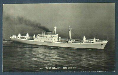 M.v.port Albany Real Photo Postcard Australia To Japan Route