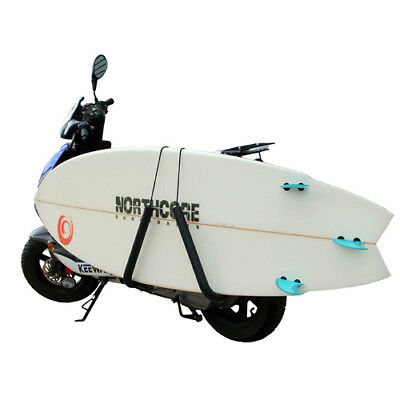Northcore Lowrider Moped Carry Rack Unisex Surf Gear Surfboard - Black One Size