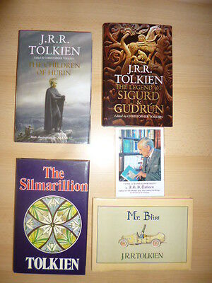 A collection of 1st printing JRR Tolkien books and photographs for the collector