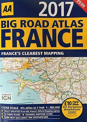 *new* Aa France Big Road Atlas Map 2017 France's Clearest Mapping Latest Edition