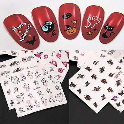 50 Sheets Decals Flower Water Transfer Manicure Nail Art Stickers DIY Tips New