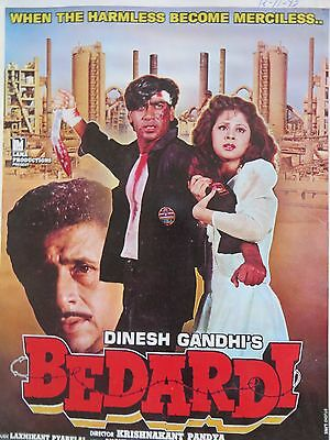 Press Book Indian Movie promotional Song booklet Pictorial Bedardi (1993)