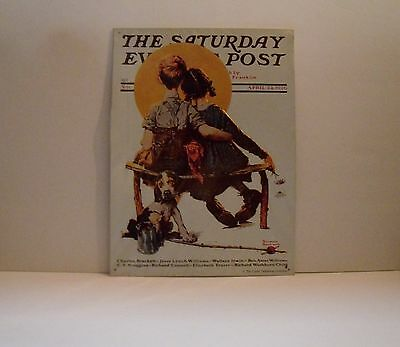 """New Norman Rockwell Saturday Evening Post Tin Sign Reproduction - 16"""" X 11"""""""