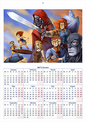 Thundercats - 2017 A4 CALENDAR **BUY ANY 1 AND GET 1 FREE OFFER**
