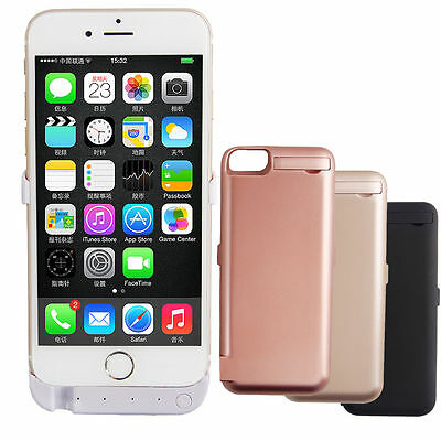 iPhone Power Bank Portable Charger Cover Battery Case 10000mAh 6/6S 7 8 7/8 Plus