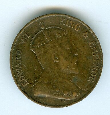 Hong Kong 1905 Cent--Circulated