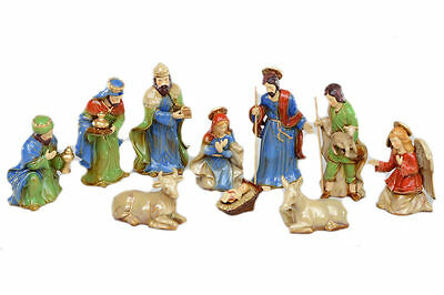 Christmas Nativity Figurine Set (10 pces)  NEW   27164