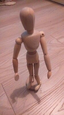 """Artist's Articulated Posable Drawing Sketching Model/Mannequin 12"""" VGC"""