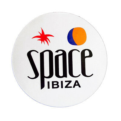 OFFICIAL Space Ibiza: New Logo Large Club Sticker White Blue RRP £6.00