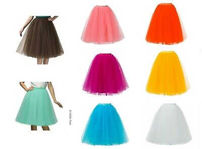 5 Layers Long Ladies Girls Women Ballet Fancy Tutu  Skirts Underskirts Petticoat