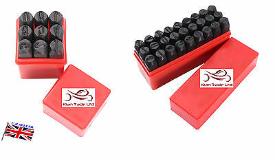 "1.5mm (1/16"") Stamp Letter Alphabet Number Punch Die Tool Leather Marker Craft"