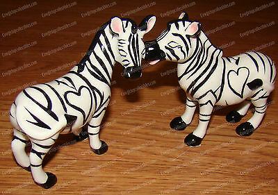 ZEBRA'S Salt & Pepper Shakers (MWAH  by Westland, 93924) Ceramic, Magnetic
