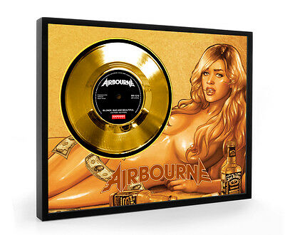 Airbourne Blonde, Bad And Beautiful Framed Gold Disc Display Vinyl ( C1 )