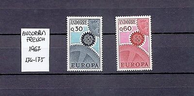 Andorra French 1967 - Europa - Complete Set MNH - Sc. 174-175