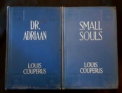Lot Of 2 Louis Couperus Books - Small Souls & Dr. Adriaan (HB, Dodd Mead. 1920)