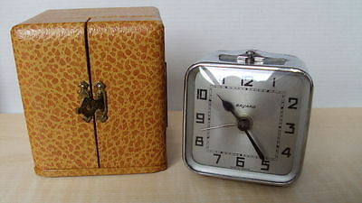 Bayard - travel clock - alarm - chrome case 1935