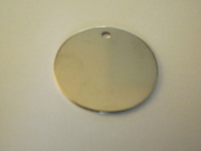 Dog Tag ID Tag Pet Tag - 25mm Stainless Steel Tag - CIRCLE - FREE Engraving