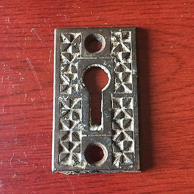 VTG Antique Eastlake Victorian Old Cast IRON  Keyhole Cover