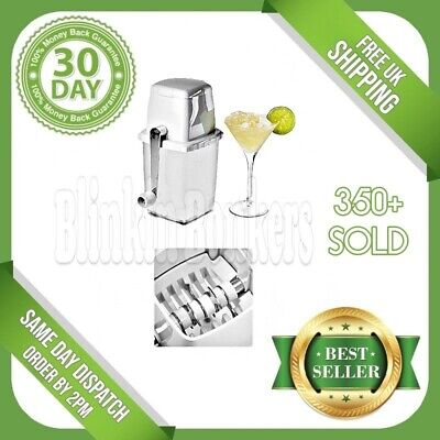 Manual Hand Frozen Ice Cube Crusher Mincer Breaker Machine For Drinks Cocktails
