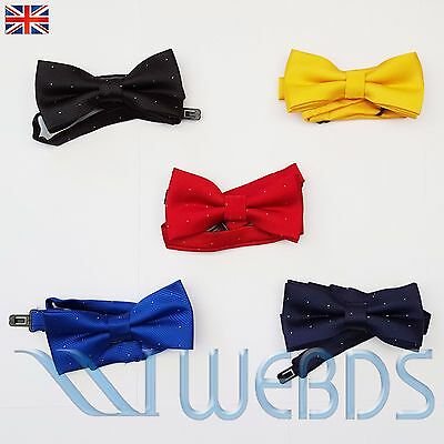 New Boys Kids Children Pre-Tied Satin Bow Tie with Adjustable Strap Wedding Tie