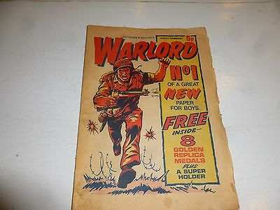 WARLORD Comic - Issue 1 - Date 28/09/1974 - UK Paper Comic