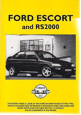 FORD ESCORT MK5 INCL XR3i RS COSWORTH RS2000 & CABRIOLET 1990-95 ROAD TESTS BOOK
