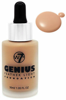 W7 Genius Foundation - True Beige - Feather Light Liquid Coverage Flawless