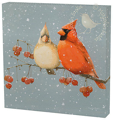 Marjolein Bastin Dinnertime at the Feeder 12 x 12 Gallery Wrapped Canvas