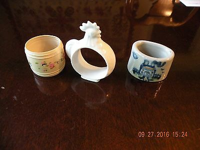 Vintage Hand Painted M A Hadley Napkin Ring - Napkin Ring Grouping