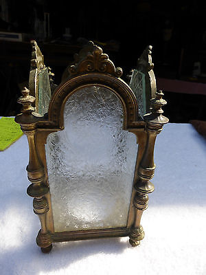 Vintage antique table light spires arches beautiful glass  church  religeous