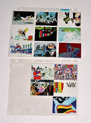 BEATLES YELLOW SUBMARINE 13 CARDS AND ONE FOIL CARD in sleeves With PACKAGING