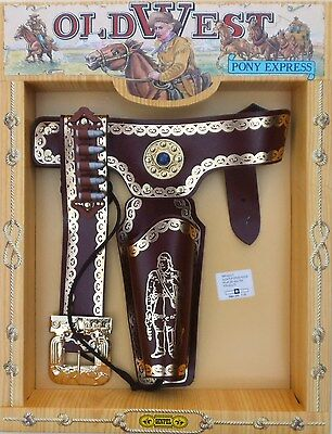 Cowboy 'old West' Single Holster Set (Suit Adult) Includes Replica Bullets