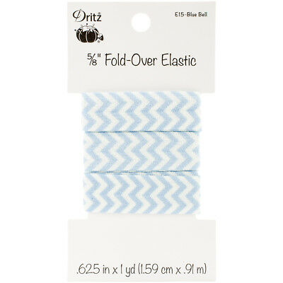 "Fold-Over Elastic 5/8""X1yd-Chevron - Blue Bell"