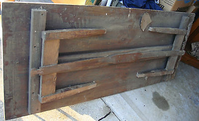 1800s Antique Folding Sewing Table Farmhouse Grove ruler solid sawn 6ft Oak wood