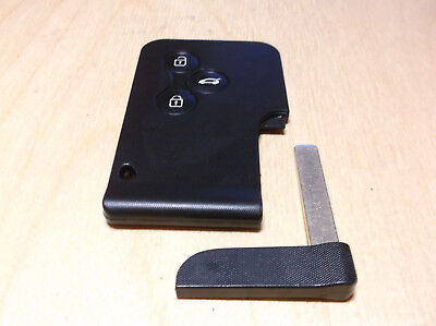 Genuine Renault Megane 2 / Scenic 2 Key Card 3 buttons new prepared chip PCF7947