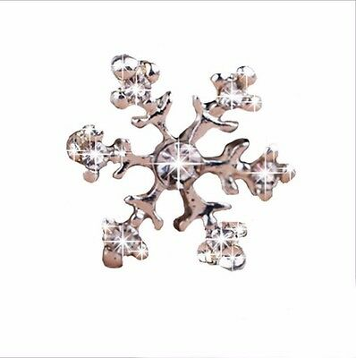 10pcs Diamante Frozen Snowflake Embellishment Wedding Crystal Card Topper 14mm
