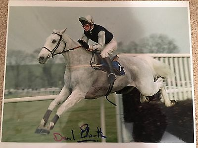 Signed 8x10 Desert Orchid By Trainer, David Elsworth