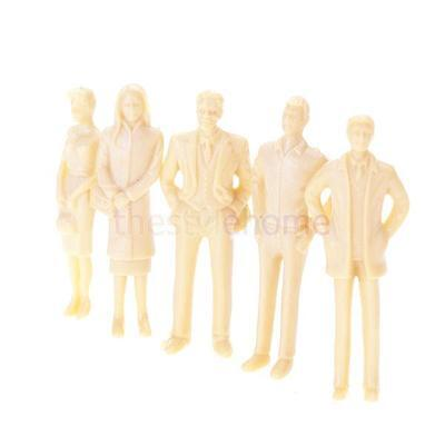 20pcs Unpainted Train People Figures 1:30 G Scale Fun DIY Model Paint yourself