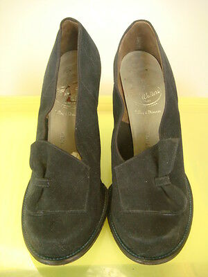 """Original Vintage 1940's """"Town Walker"""" by Selby Blue Suede Shoes Size UK 4?"""