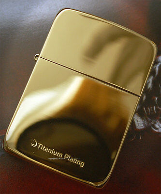 Zippo Lighter 1941 Replica Titanium plating GD + 1flints+1wicks Design by korea