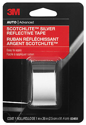 3M COMPANY - Reflective Safety Tape, Silver, 1 x 36-In.