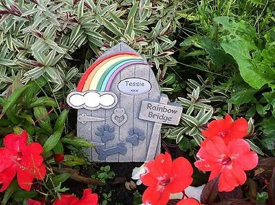 Personalised Rainbow Bridge Door Memorial -  Dog with plaque